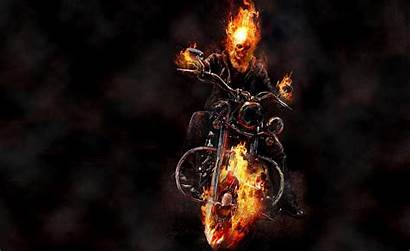 Rider Ghost Fire Motorcycle Background 4k Wallpapers