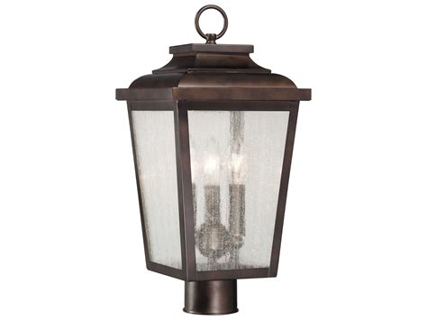 outdoor l post bulbs minka lavery irvington manor chelesa bronze three light
