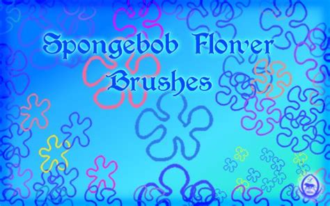 spongebob flowers brushes  sylvani  deviantart
