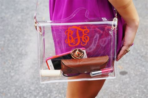 diy personalized game day purse clear bag policy football stadium clear purse clear purses