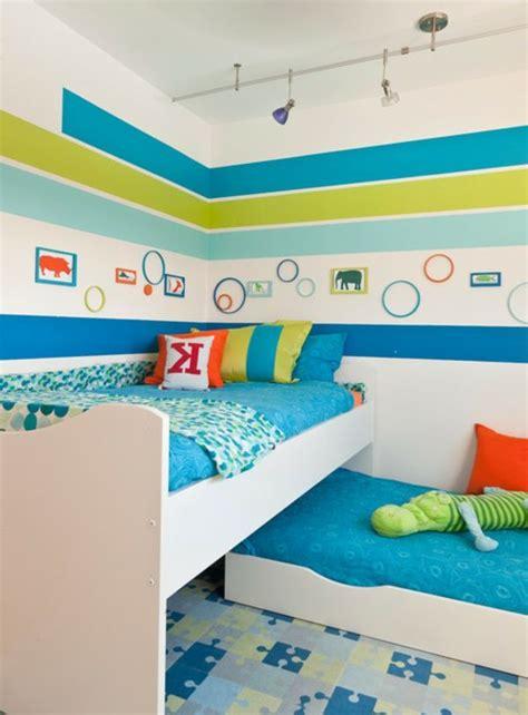 Wandgestaltung Kinderzimmer Grün Blau by Wandbemalung Kinderzimmer Hell Blau Gr 252 N Und Wei 223 Bunte