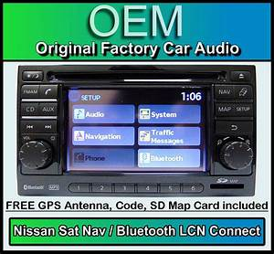 Nissan Qashqai Sat Nav Car Stereo   Map Sd Card  Lcn