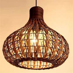 new tropical bamboo chandelier diy wicker rattan l