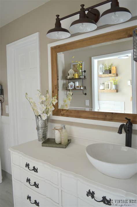 farm style bathroom farmhouse master bathroom reveal vintage farmhouse