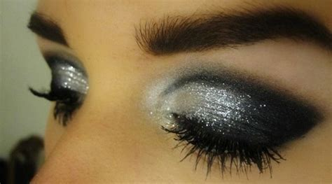 black silver glitter eyeshadow jordanqueen flickr