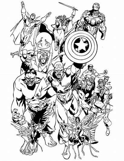 Coloring Marvel Pages Avengers Team Clipartmag