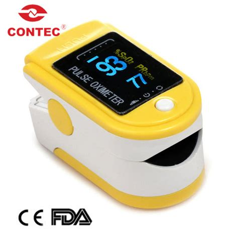 Yellow CMS50D Fingering Pulse Oximetry, SPO2 Monitor