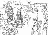 Native Indians Americans Coloring Sat Adult Tepee Tipi American Pages Marion sketch template