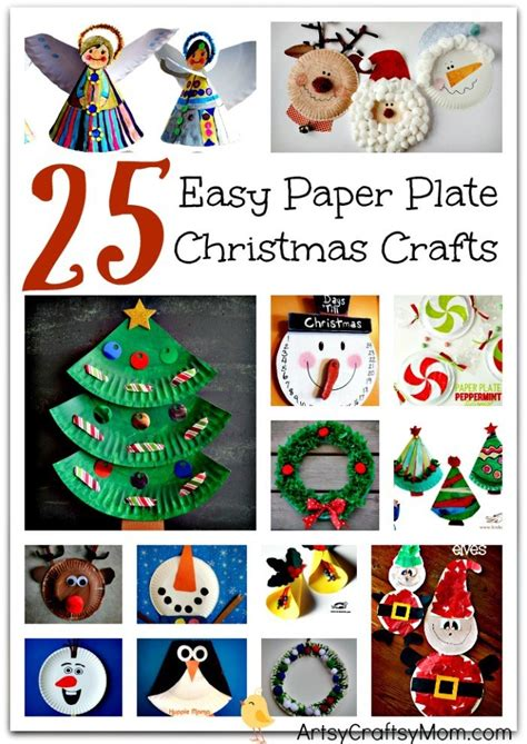 easy paper plate christmas crafts  kids artsy