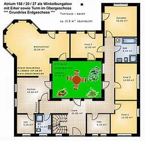 Atrium Bungalow Grundrisse : atrium 158 20 27 winkelbungalow mit erker und turm einfamilienhaus neubau massivhaus stein auf stein ~ Bigdaddyawards.com Haus und Dekorationen
