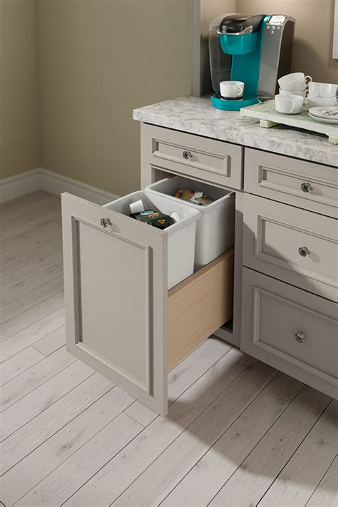 cabinet coffee bar base wastebasket cabinets interiors decora storage close cabinetry decoracabinets