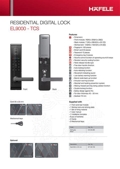fingerprint digital door lock hafele
