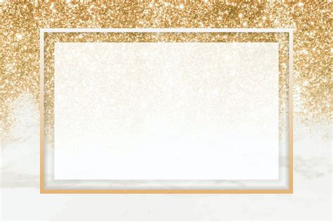 Download premium vector of Gold rectangle frame on
