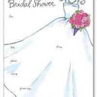printable wedding shower invitations wedding gown bridal shower invitation