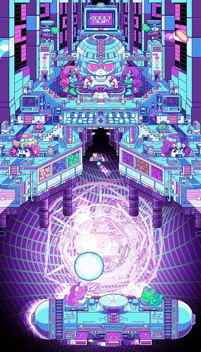 Paul Robertson Pixel Gifs Pixels Adult Swim