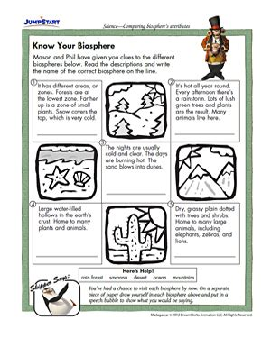 your biosphere free 3rd grade science worksheet