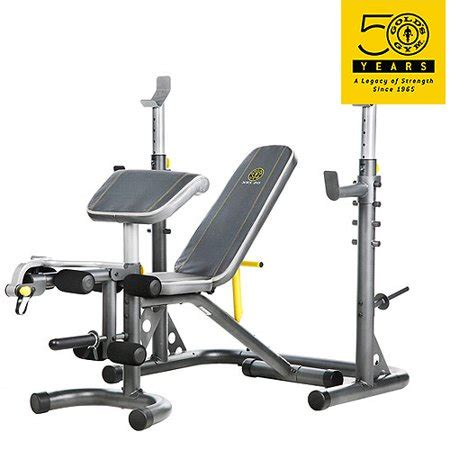 olympic workout bench gold s xrs 20 olympic workout bench and rack walmart