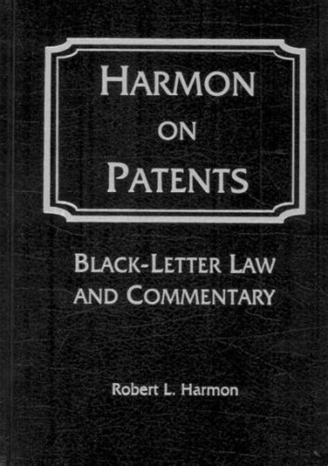 black letter law yale writing sample cover letter platinum class 20620 | harmon on patents black letter law commentary