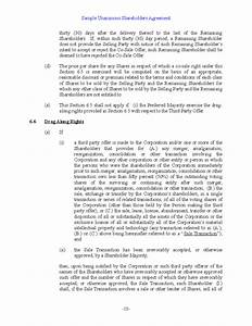 sample unanimous shareholder agreement free download With shareholder buyout agreement template