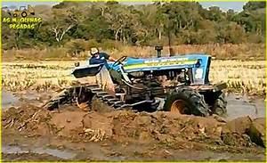 Trator Ford 6600 Com Esteira Adaptada Para Trabalhar Na