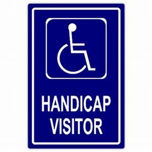 handicap visitor handicap parking sign templates With handicap parking sign template