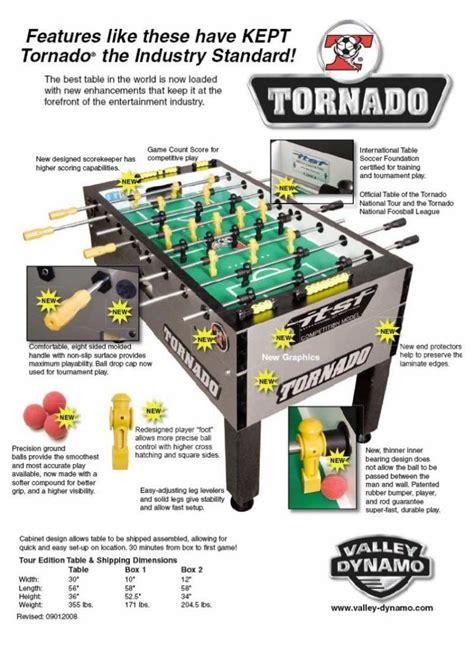 tornado   foosball table olhausen gamerooms