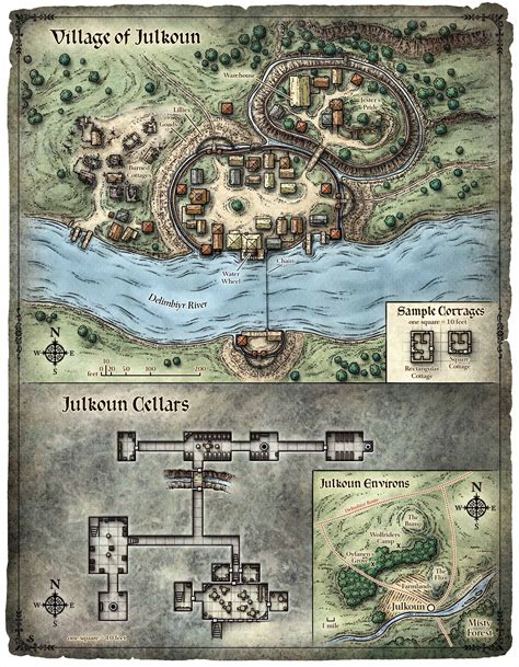 game drawing  dnd     small village