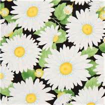 black flower fabric by timeless treasures usa
