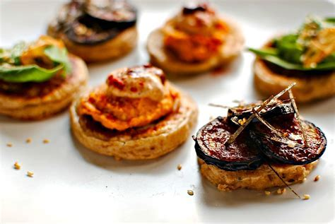 A Trio of Blinis for New Year?s Eve food to glow