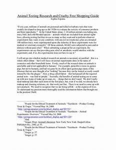 anti animal testing essay