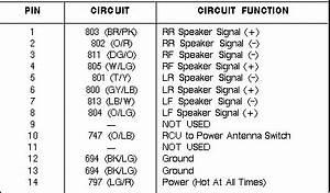 93 Pathfinder Radio Wire Schematic