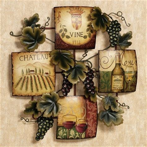 fruit of the harvest metal wall accent wine kitchen