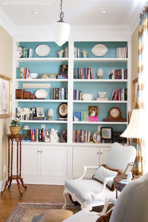 how to paint back of bookcase cottage library study the lettered cottage bookcases