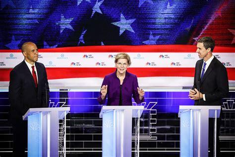 democratic debate women candidates  average spoke