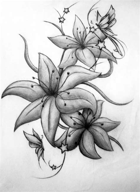 Pin by Ashley Smith on Lilies Tattoo | Lily flower tattoos, Flower hip tattoos, Flower leg tattoos