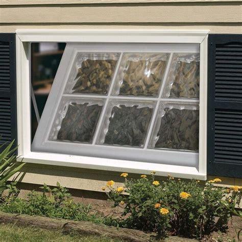 hy lite classic      tilting vinyl  construction tan basement hopper window