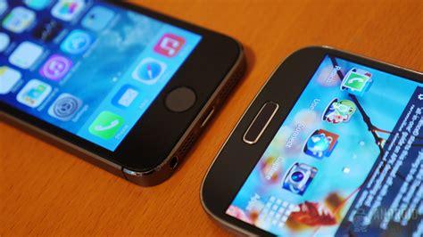 galaxy s4 vs iphone 5s iphone 5s vs samsung galaxy s4 look