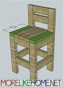 2x4 Bar stool plans Furniture Pinterest