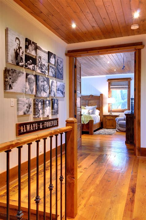 picture frame collage ideas hall rustic  double doors