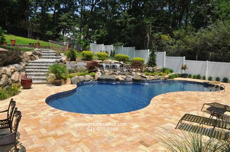 pool and patio free formed vinyl swimming pool deck and patio