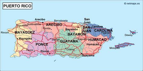 puerto rico political map eps illustrator map