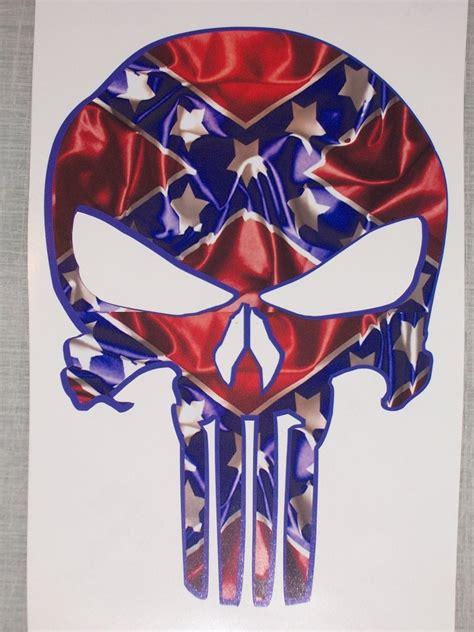 Real Tree Camo Wallpaper Rebel Flag Punisher Skull Decal