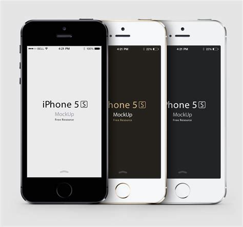 free iphone 5s free iphone 5s psd vector mockup downloads