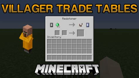 Villager Trade Tables Mod 11221112 For Minecraft Mc
