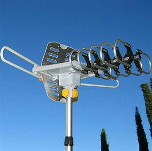 150miles Outdoor Tv Antenna Motorized Amplified Hdtv High