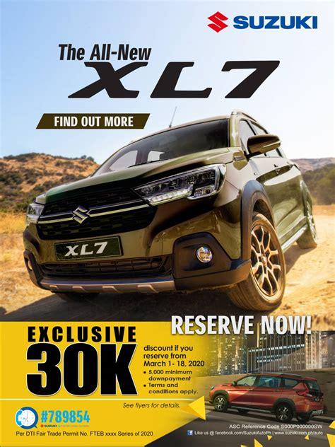 discounts   reserve  suzuki xl   presso