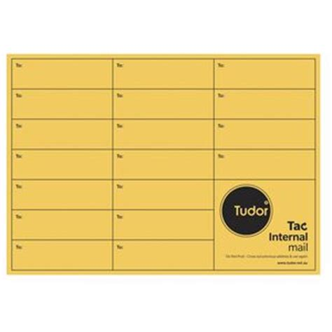 Interoffice Envelope Template Cover by Tudor Label Templates