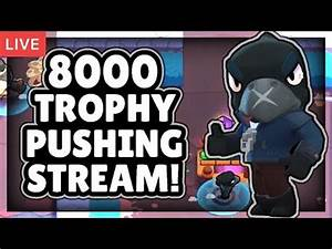 PUSHING TO 8000 TROPHIES! + FRIENDLY BATTLES LIVE STREAM ...