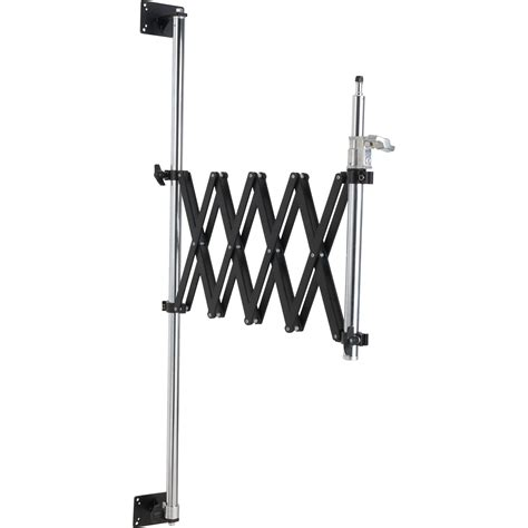 47 steel wall scissor mount flash light stand holder