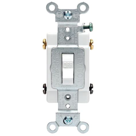 leviton  amp commercial double pole toggle switch white